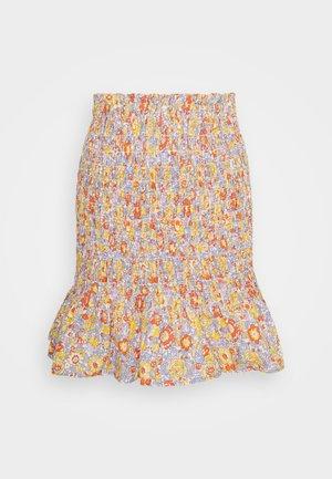 YASMANI HW SMOCK SKIRT - Mini skirt - multi-coloured