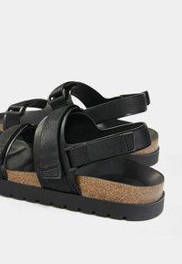 Bershka - Sandals - black - 3