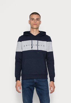 JORCOPENHAGEN BLOCK HOOD - Sweatshirt - navy blazer