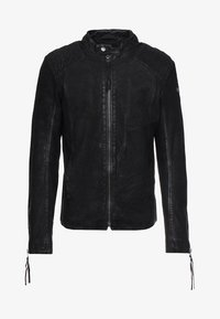 Tigha - BUFFED - Veste en cuir - black - 4