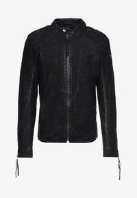 BUFFED - Leather jacket - black