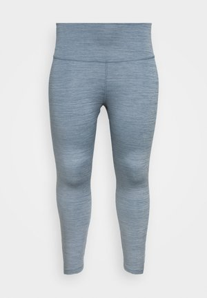 YOGA RUCHE 7/8 TIGHT PLUS - 3/4 sports trousers - diffused blue
