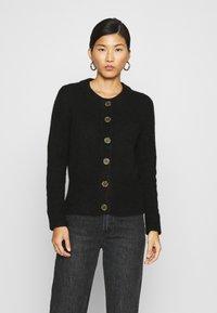 Selected Femme - SLFSIA CARDIGAN - Cardigan - black - 0