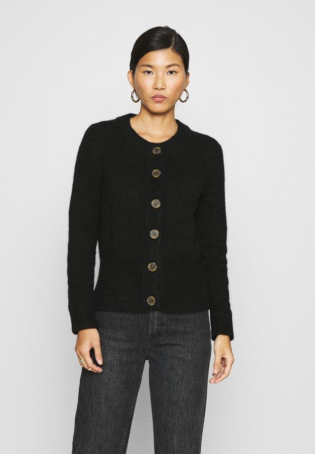 SLFSIA CARDIGAN - Vest - black