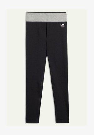 Leggings - black/mid grey melange