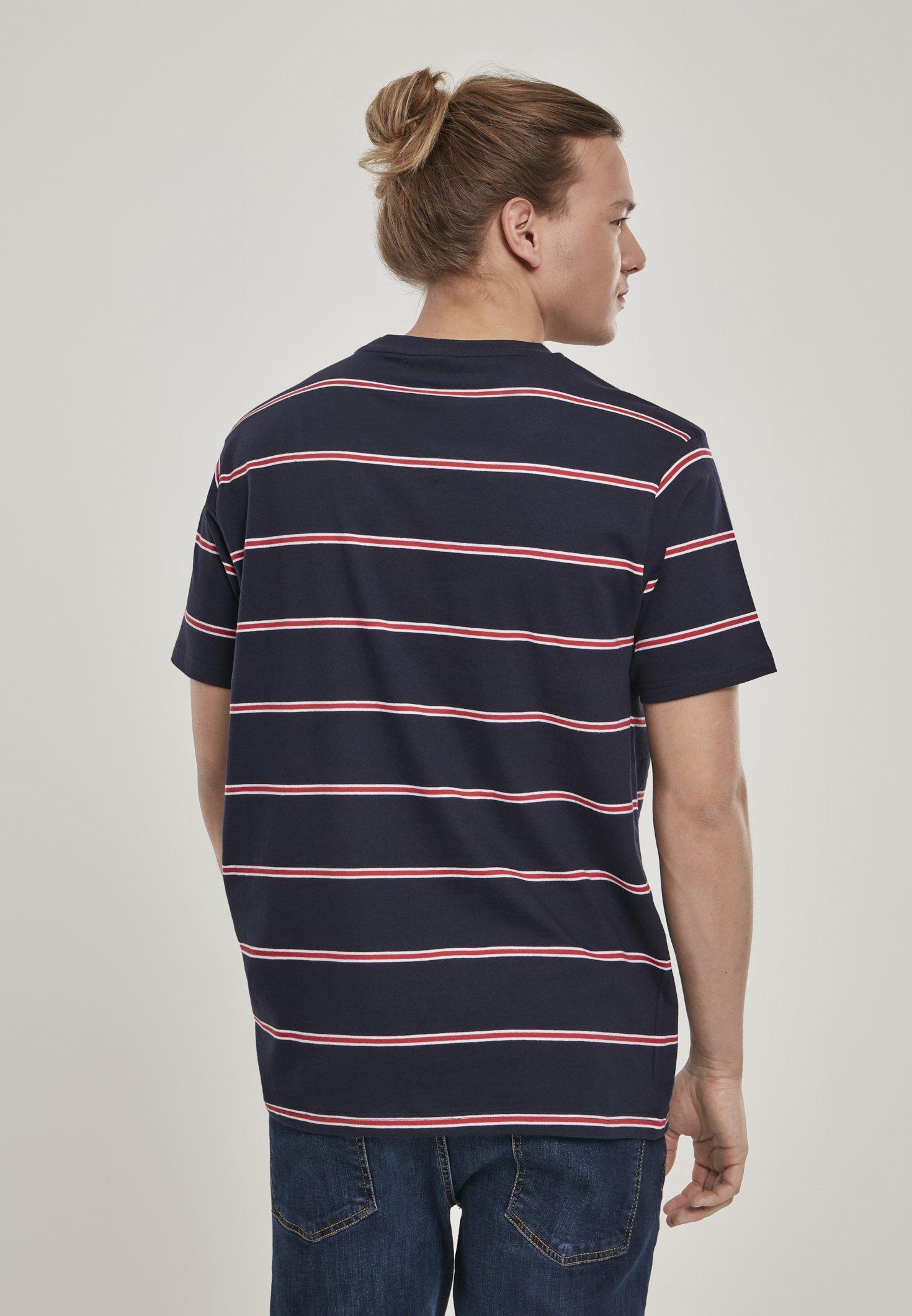 Urban Classics Print T-shirt - midnightnavy/red 8bHcB