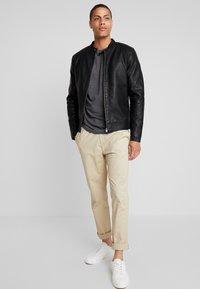 Tiffosi - EAGLE - Faux leather jacket - black - 1
