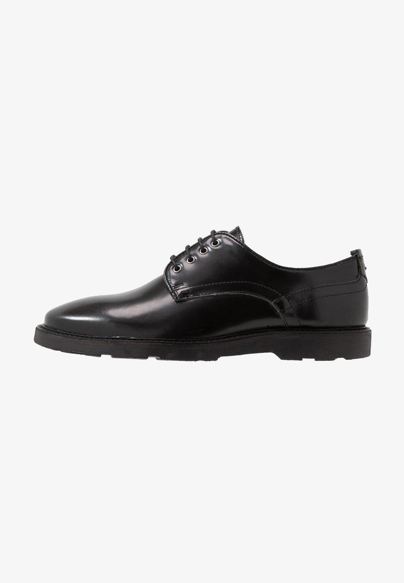 Walk London - REESE DERBY - Šněrovací boty - black
