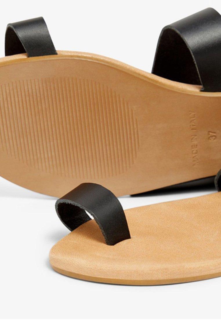 Bianco Biacai Toe - Sandaler M/ Tåsplit Black