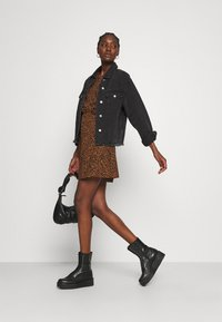 Madewell - WRAP DRESS IN LEOPARD - Day dress - brown - 1