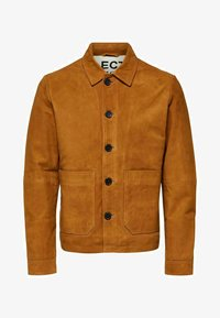Selected Homme - KNOPFLEISTE  - Leather jacket - monks robe - 5