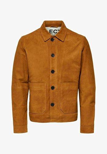 KNOPFLEISTE  - Leather jacket - monks robe