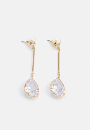 CARES - Earrings - clear on gold-coloured