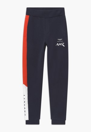 TRACK - Tracksuit bottoms - navy/red
