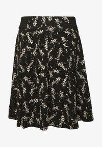 NAF NAF - KATHIOCHAINE - Mini skirts  - noir/ecru - 3