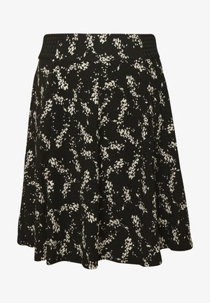 KATHIOCHAINE - Mini skirt - noir/ecru