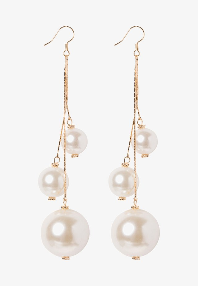 CELENTA - Earrings - gold-coloured/pearl