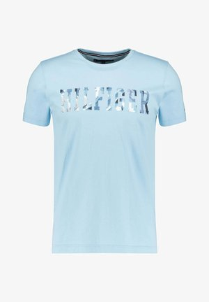 FLORAL TEE - Print T-shirt - bleu (50)