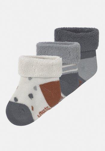 NEWBORN TINY FARMER 3 PACK - Socks - blue