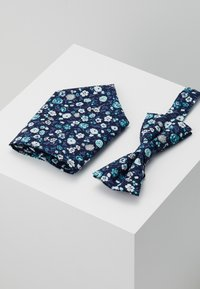 Only & Sons - ONSTBOX BOW TIE & HANKERCHIEF - Pocket square - black/mint - 0