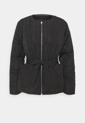 SLFPLASTIC CHANGE QUILT SPRING JACK - Summer jacket - black