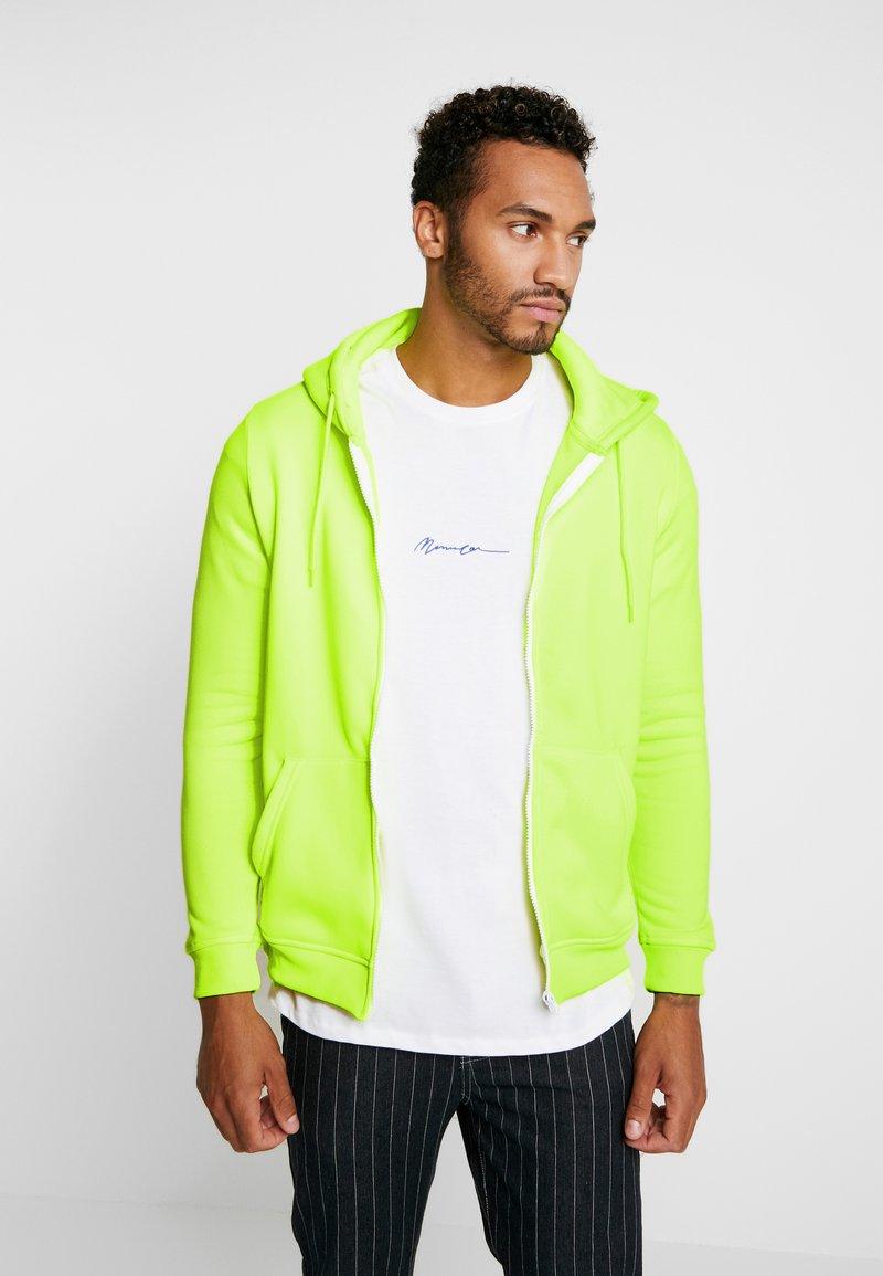 Brave Soul - MAGENTA - veste en sweat zippée - neon yellow