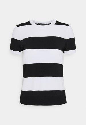 KONSUELO SHORT SLEEVE - T-shirt con stampa - white/black