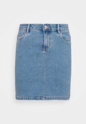 ONLAMAZE SKIRT BOX - Minifalda - light blue denim