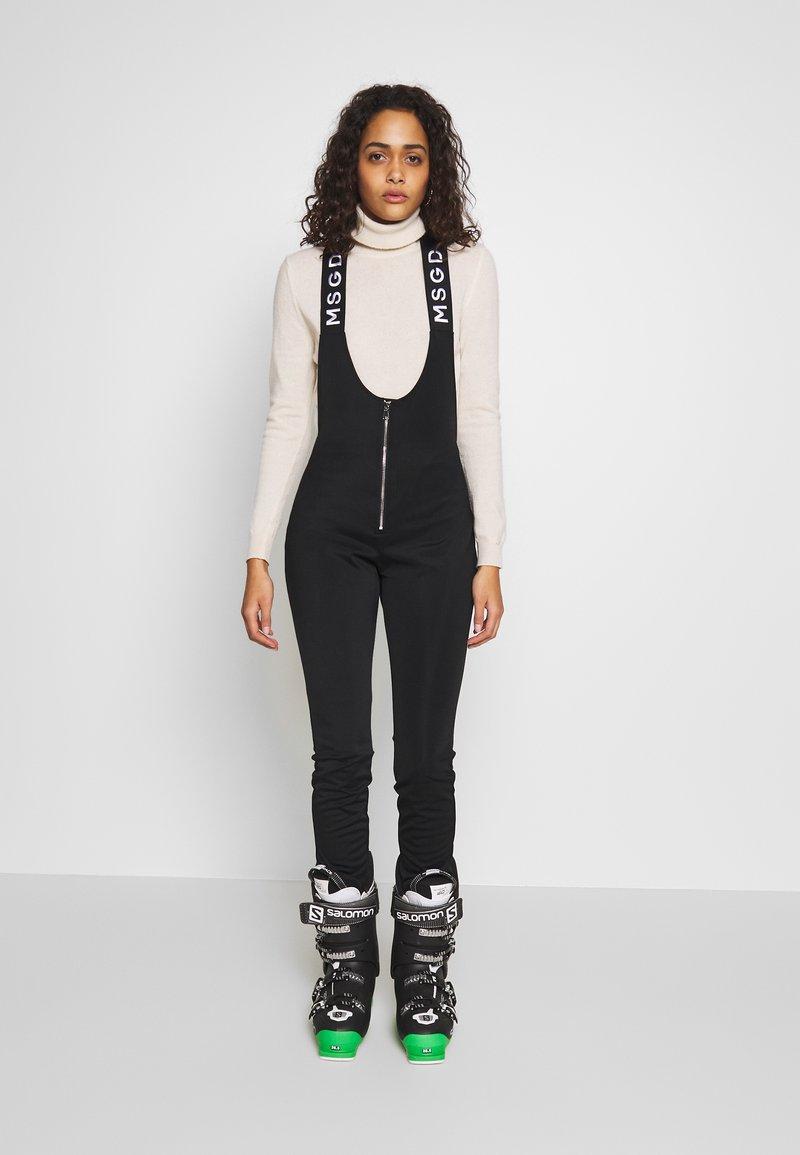 Missguided - SKI SALOPETTES - Pantaloni - black