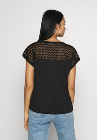 Vero Moda - VMSOFIA LACE TOP - T-shirt basic - black - 2