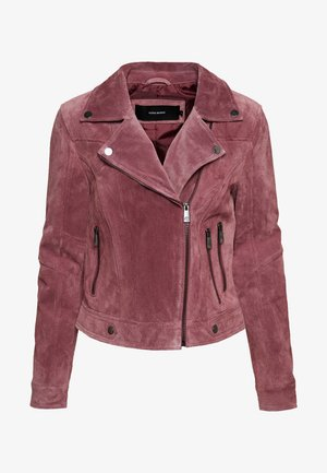 VMROYCESALON JACKET - Veste en cuir - old rose