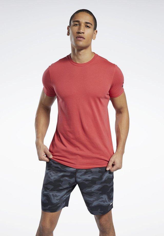 WORKOUT READY TRAINING SHORT SLEEVE - T-shirt basic - red