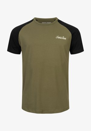 JORHUNTER - Print T-shirt - dusty olive