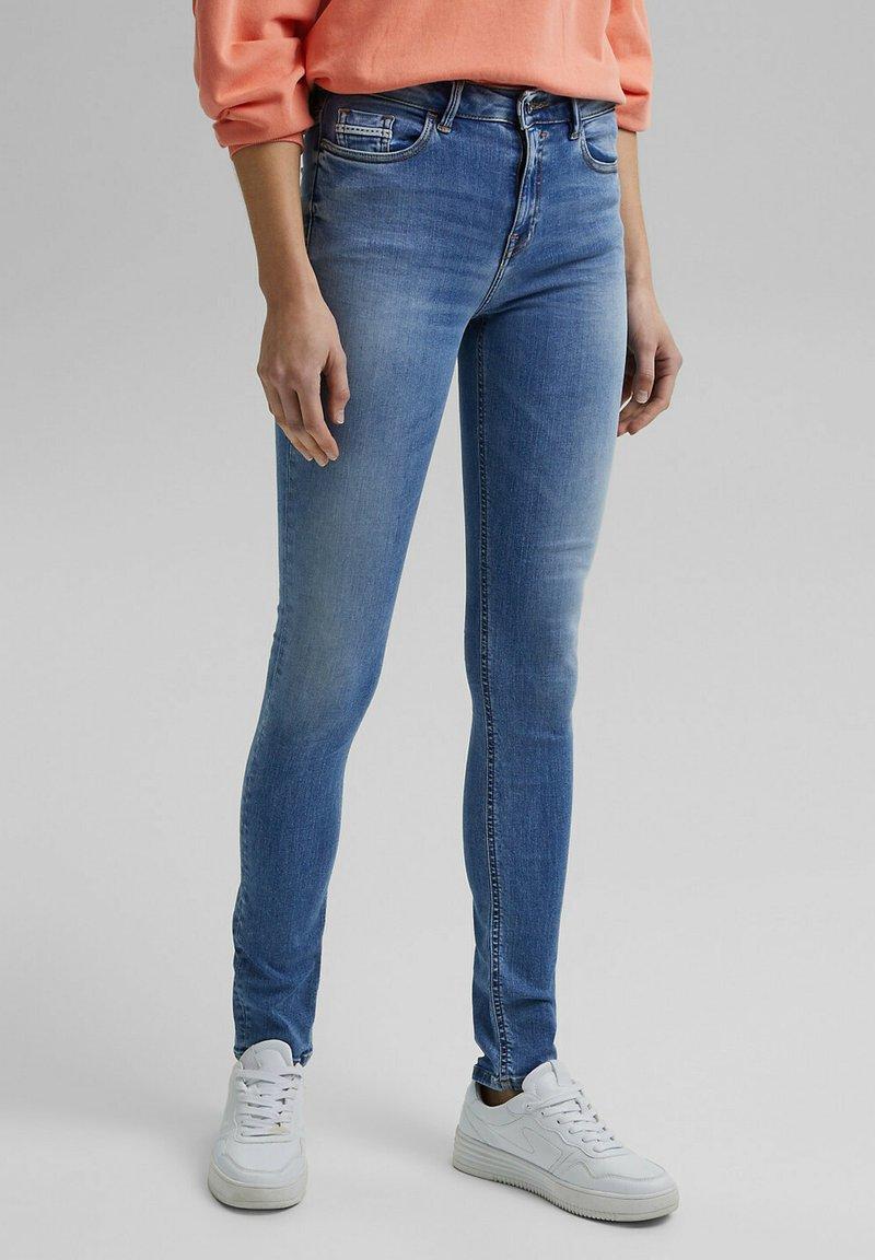 Esprit - Slim fit jeans - blue light washed