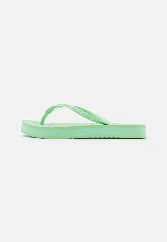 SLIM FLATFORM - Teenslippers - hydro green