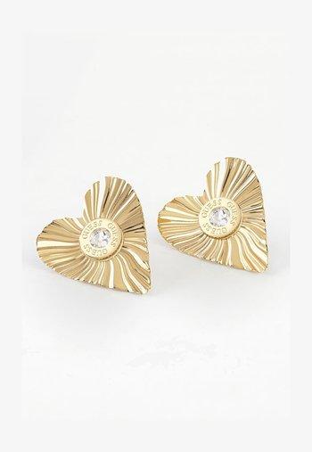 PLISSE - Earrings - goldenfarbe
