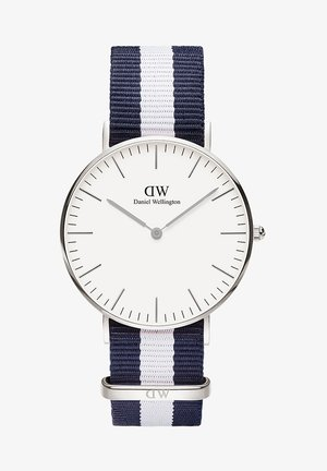 CLASSIC GLASGOW 36MM - Rannekello - white, blue, silver