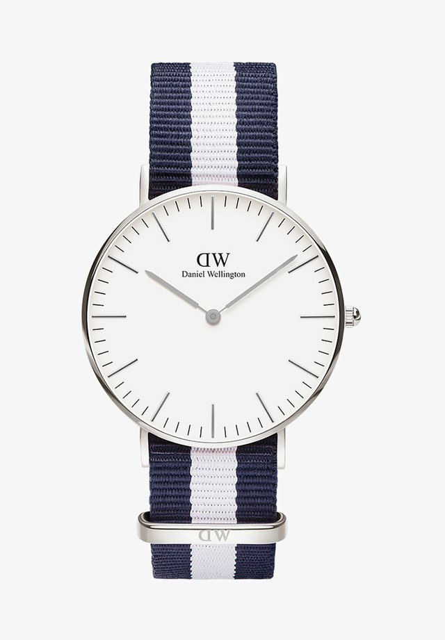 CLASSIC GLASGOW 36MM - Montre - white, blue, silver