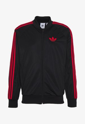 SUPERSTAR SPORT INSPIRED TRACK TOP - Giacca sportiva - black/red