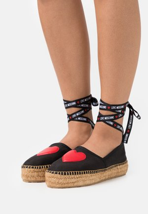 EXCLUSIVE - Espadrilky - black