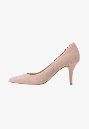 LEATHER PUMPS - Classic heels - beige