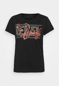 Colourful Rebel - REBEL HEART CLASSIC TEE  - Triko spotiskem - black - 0