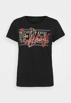 REBEL HEART CLASSIC TEE  - Print T-shirt - black