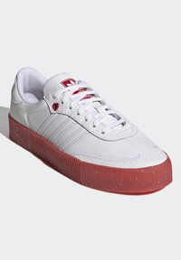adidas Originals - SAMBAROSE - Joggesko - footwear white/scarlet/core black - 2