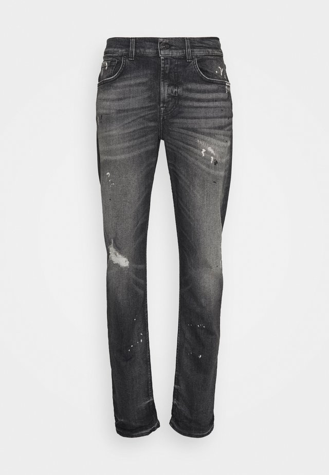 STRETCH TEK CASSIUS - Jean slim - grey
