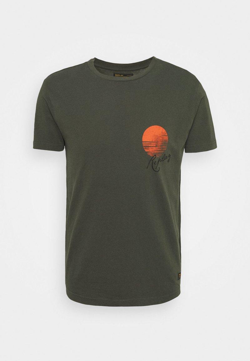 Replay - T-shirt con stampa - khaki