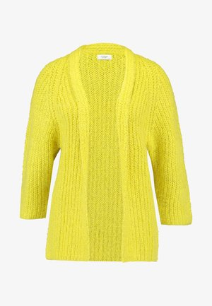 JDYROMES CARDIGAN - Kardigan - medium yellow melange/melange