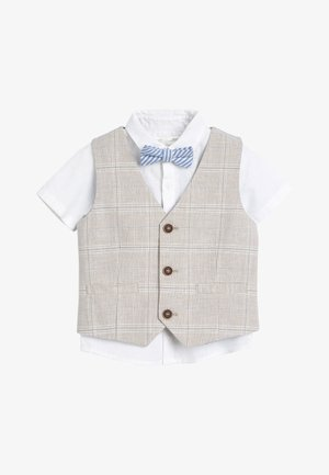 STONE WAISTCOAT, SHIRT AND SHORTS SET  - Veste sans manches - beige