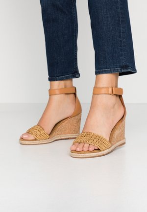 PELICANBAY  - High heeled sandals - fudge/caramel