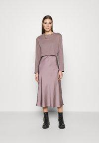 AllSaints - BENNO TEE DRESS SET - Long sleeved top - taupe - 0